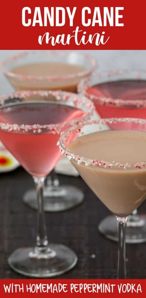 candy cane martinis