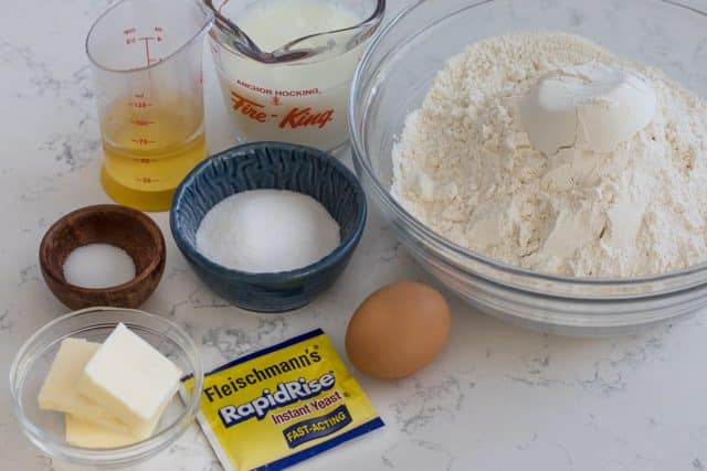 Ingredients for how to make homemade monkey bread