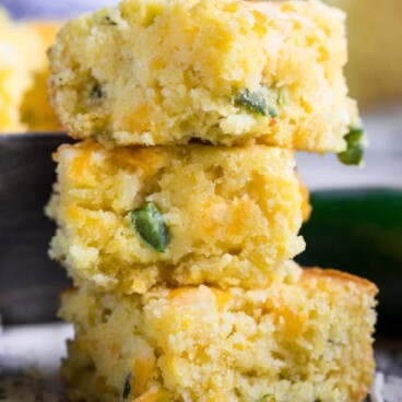 stack of Mexican cornbread squares