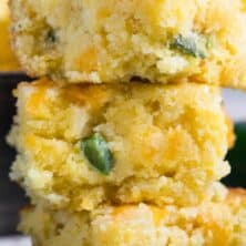 stack of Mexican cornbread