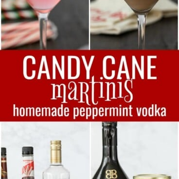 candy cane martinis collage