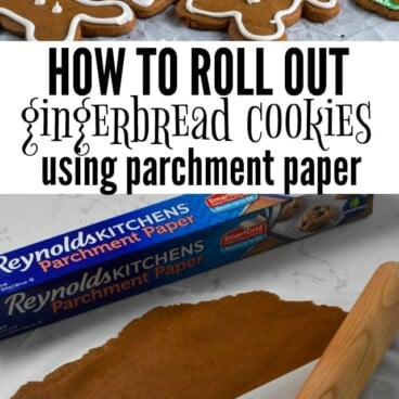 Using Reynolds Parchment Paper makes making gingerbread cookies EASY!