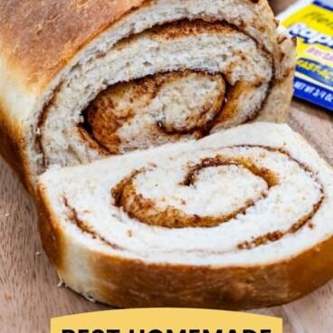 collage cinnamon swirl bread
