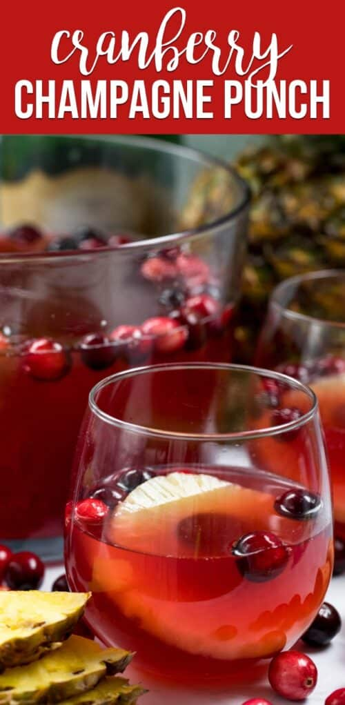 cranberry champagne punch