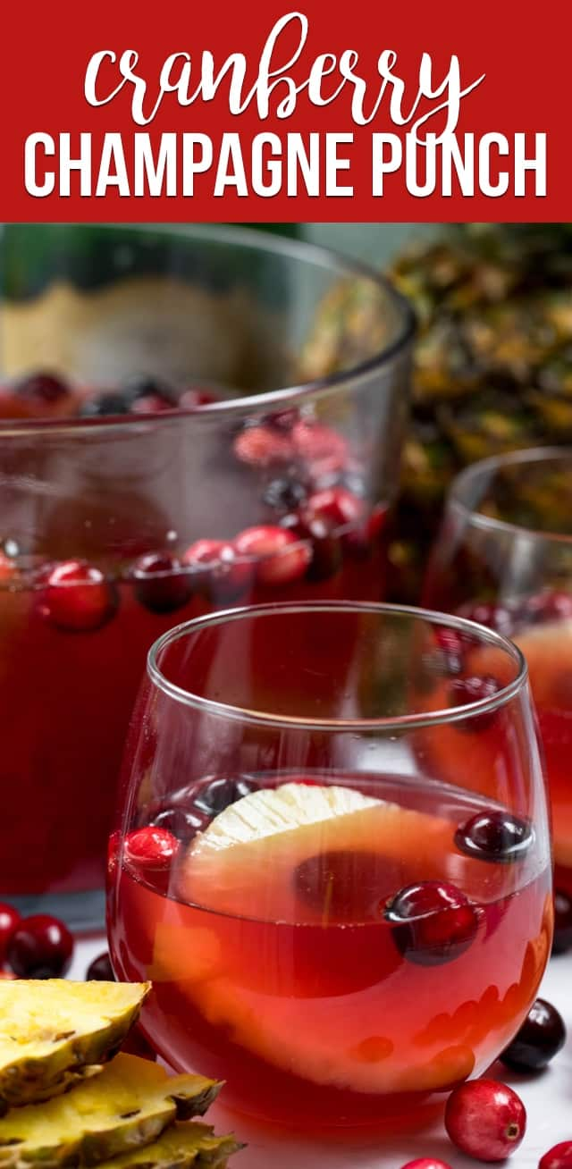 Making a Cranberry Champagne Punch for the holidays is an easy party punch recipe with vodka.