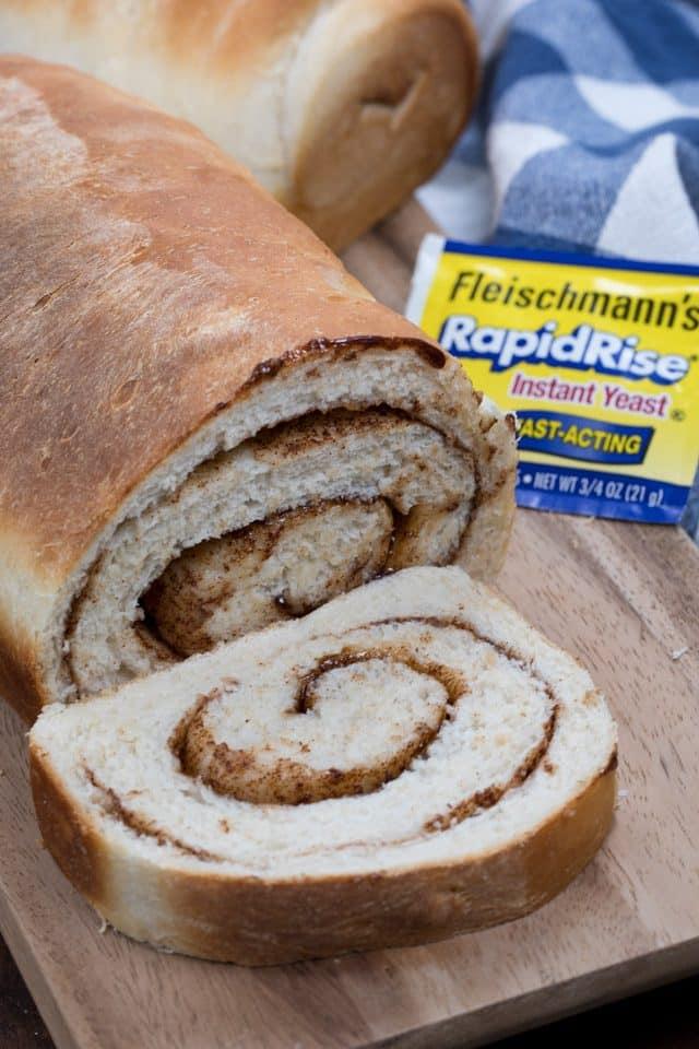 sliced cinnamon bread