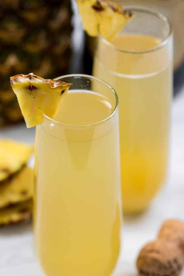 pineapple mimosa closeup