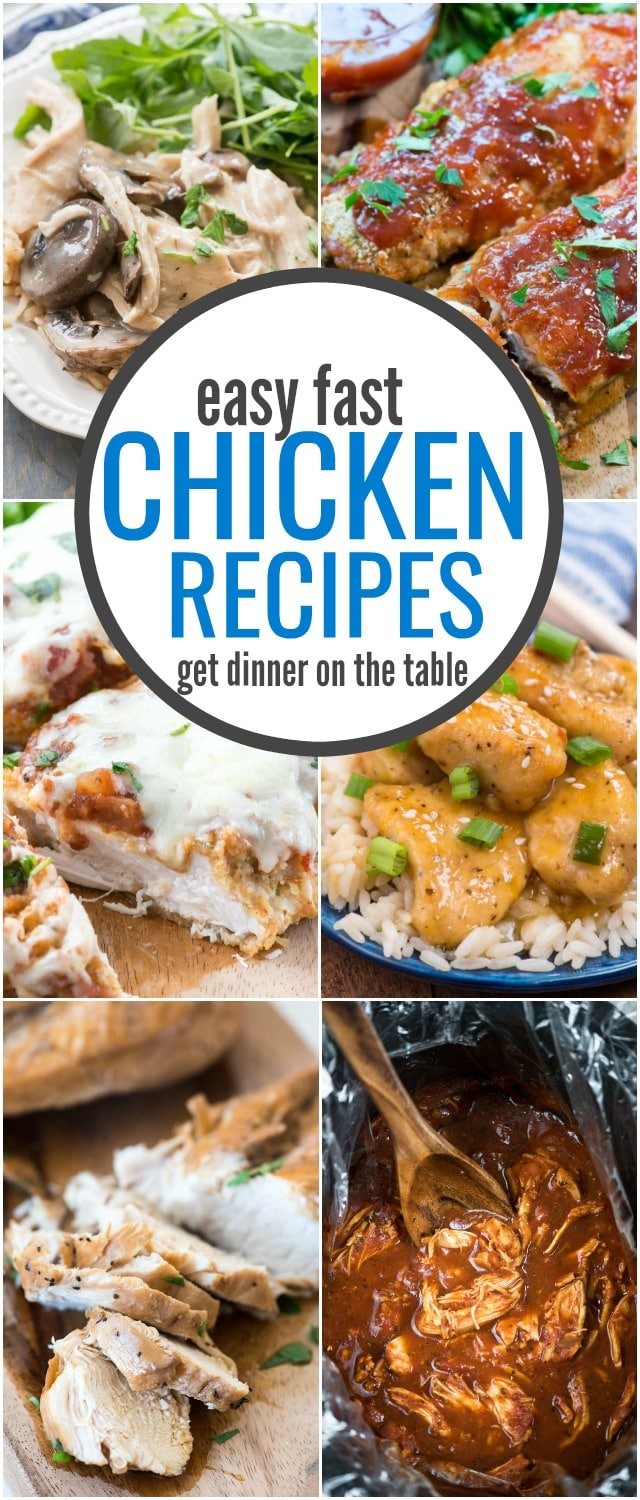 These EASY and FAST Chicken Recipes will get dinner on the table! Easy chicken dinners for busy weeknights.