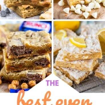 collage of blondie recipes