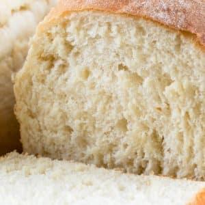 sliced homemade white bread