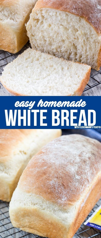 Easy White Bread (homemade recipe