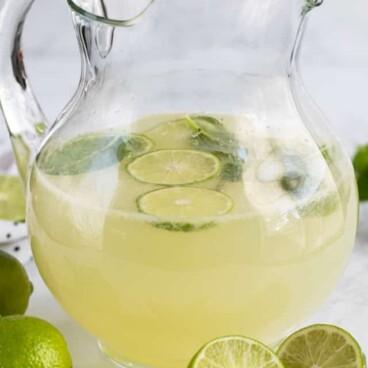 pitcher of vodka limeade punch