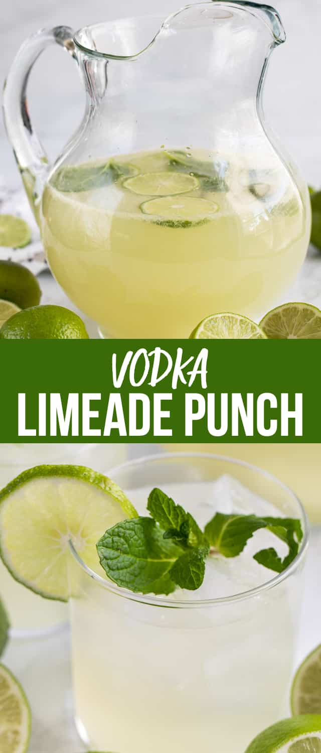 Vodka Limeade Punch is perfect for any party! It's an easy punch recipe made with limeade concentrate and vodka. This is the BEST limeade recipe!