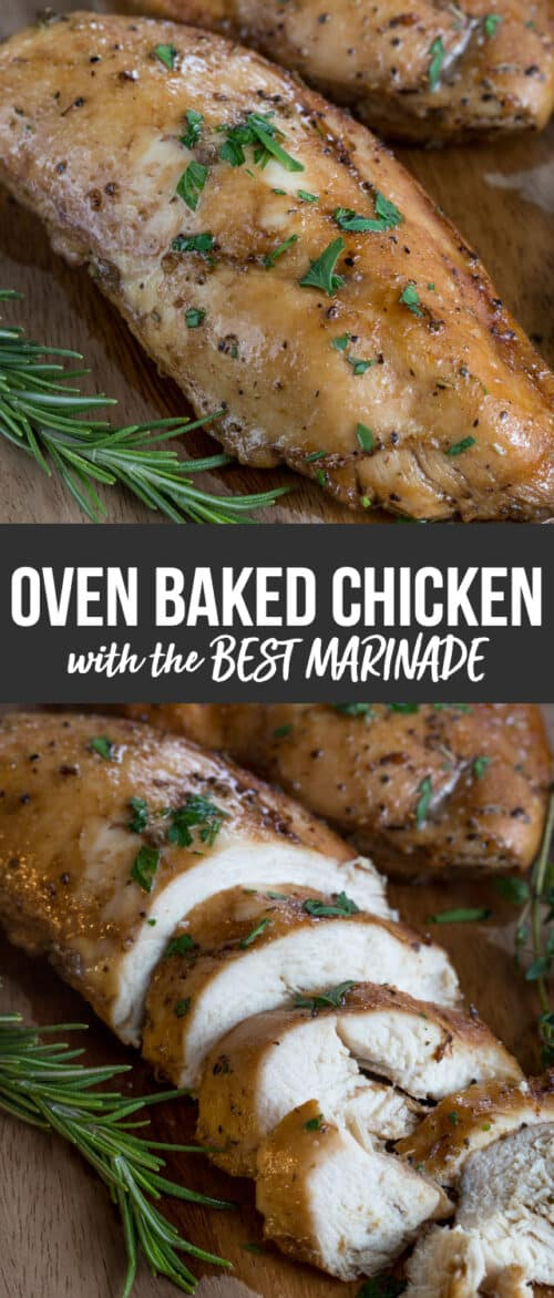 oven baked chicken collage