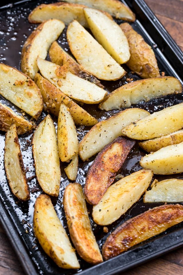 Easy Oven Roasted Potatoes Recipe Crazy For Crust