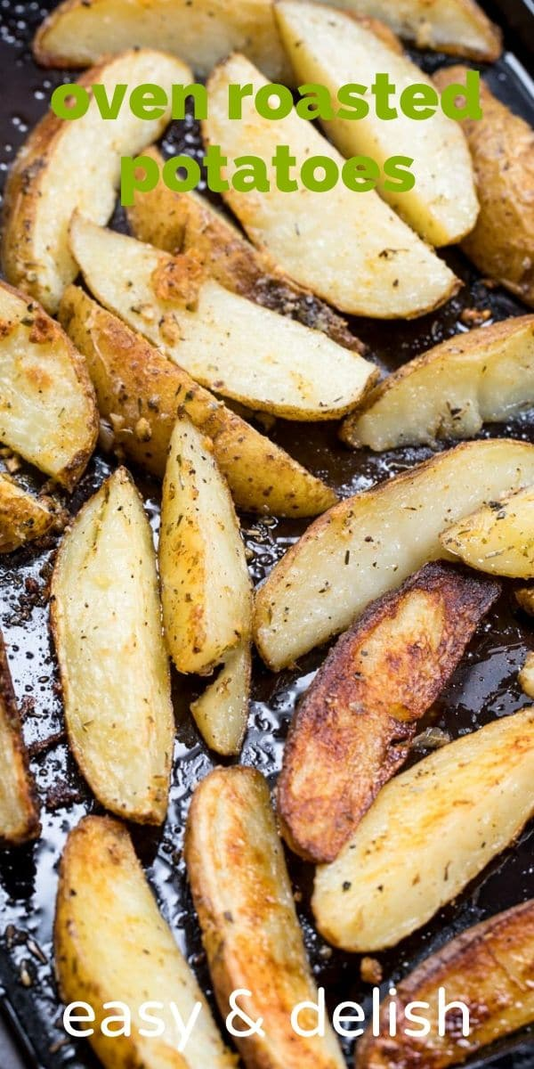 roasted potatoes on cookie sheet