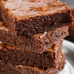 brownies in a stack