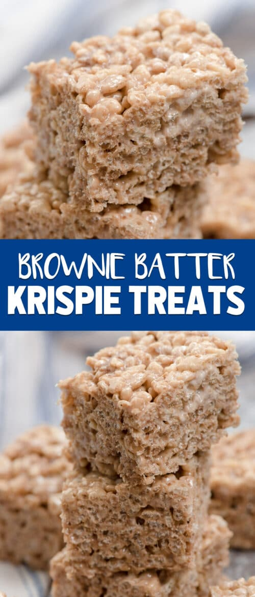 brownie batter Krispie treats collage