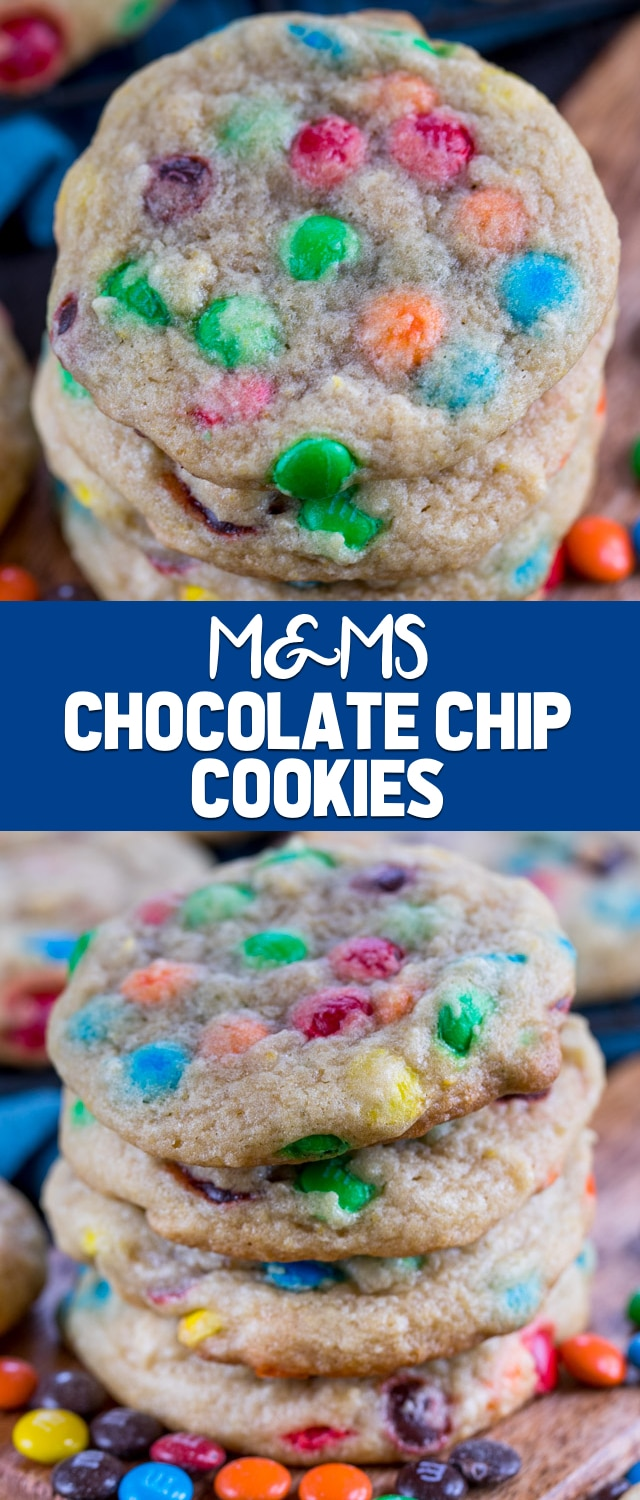Soft and Chewy Chocolate Chip M&Ms Cookies are the perfect cookie recipe! This is my favorite and BEST chocolate chip cookie recipe filled with M&Ms!