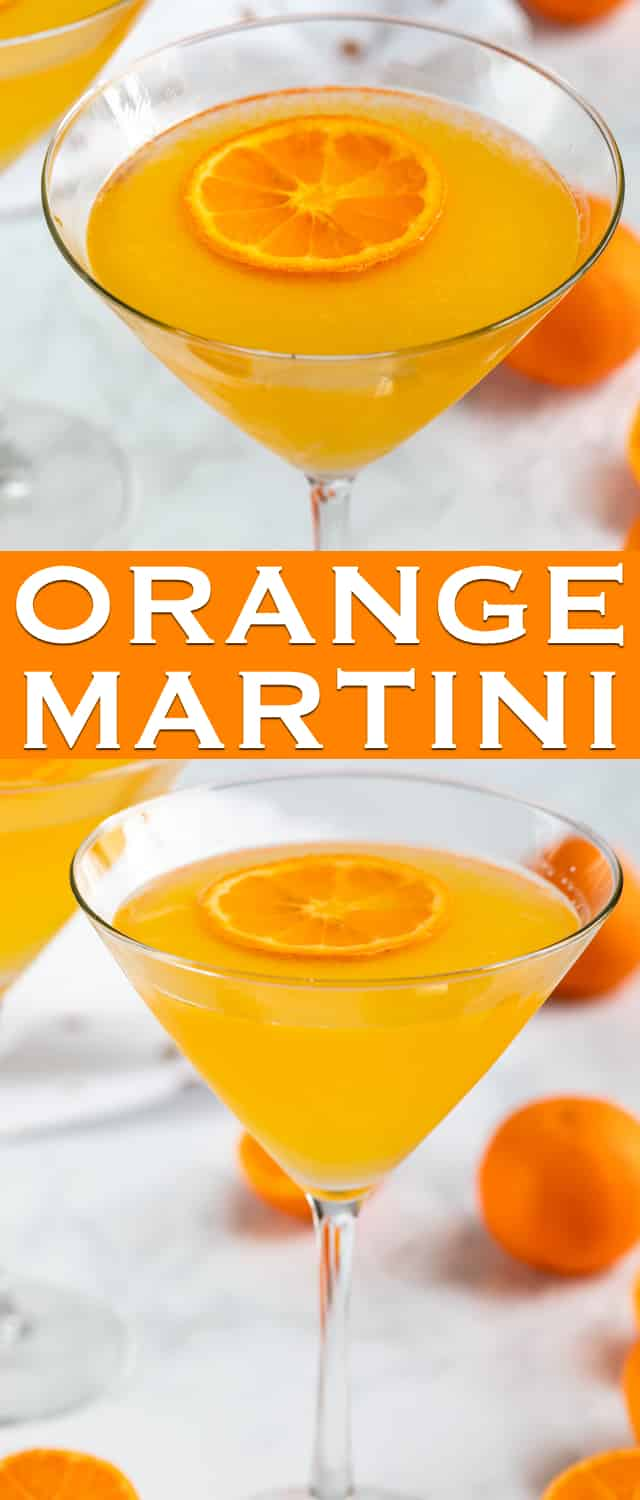 The perfect easy Orange Martini is made with vodka, triple sec, and fresh orange juice! This is the perfect easy homemade martini recipe.