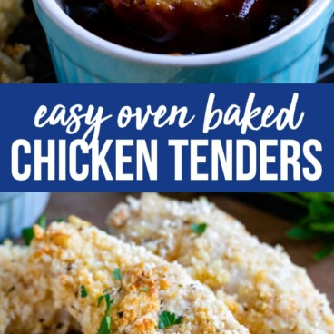 oven baked chicken tenders collage