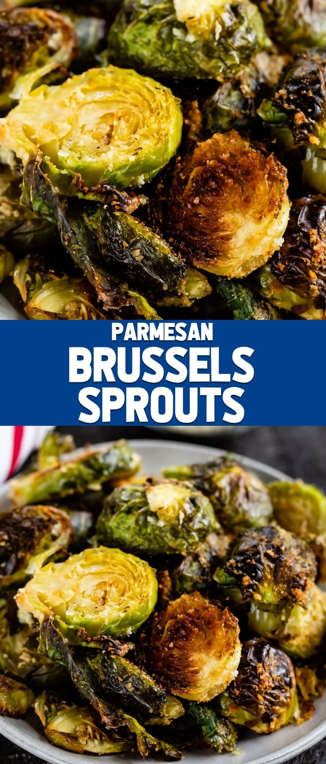 Parmesan Roasted Brussels Sprouts are one of my favorite side dishes! Learn how to roast Brussels sprouts the right way so they come out perfect every time!
