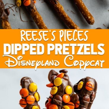 Reese's dipped pretzels collage