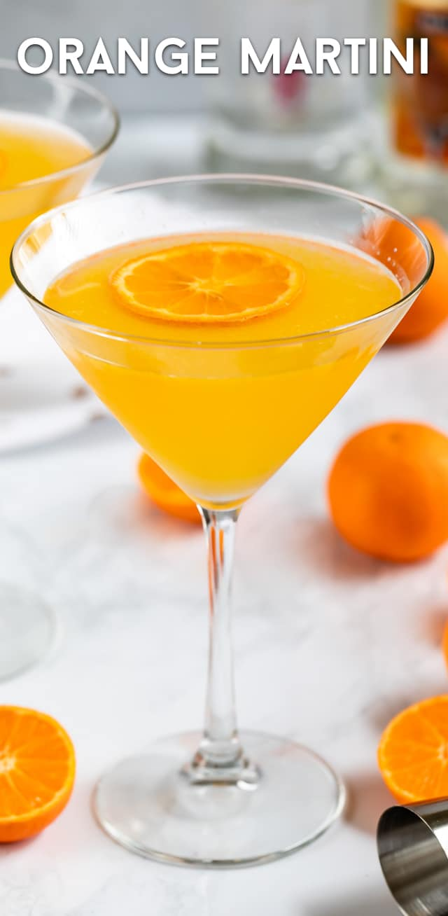 orange martini in glass