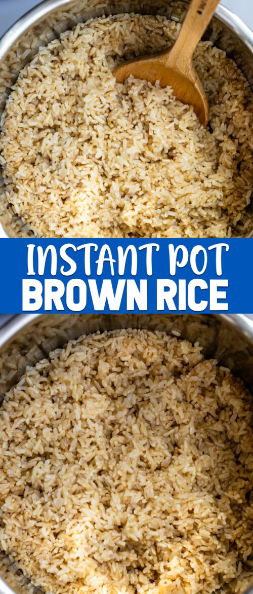 collage instant pot brown rice