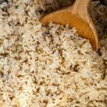 overhead shot instant pot brown rice