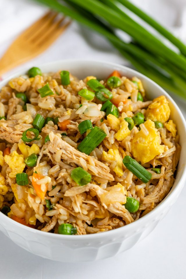ww chicken fried rice in bowl