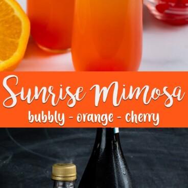 collage of sunrise mimosa photos