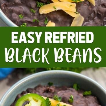 collage of black bean photos