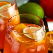 fruity margarita punch in glass