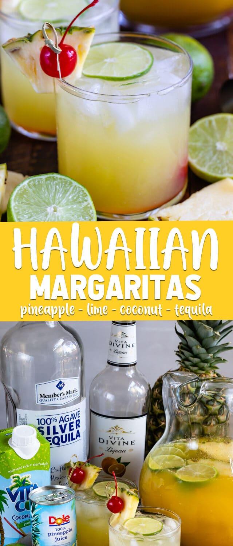 collage of Hawaiian margarita photos