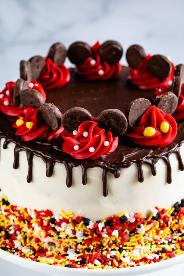 Mickey Mouse cake close up