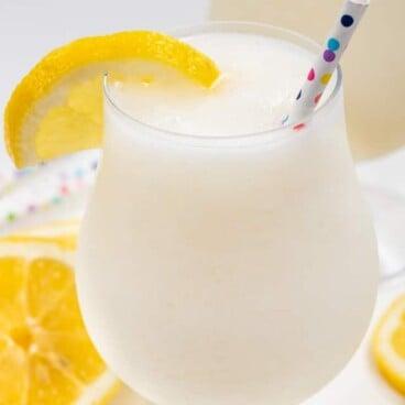 frozen lemonade in glass
