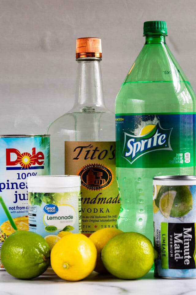 ingredients in vodka party punch