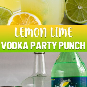 collage of lemon lime vodka party punch photos