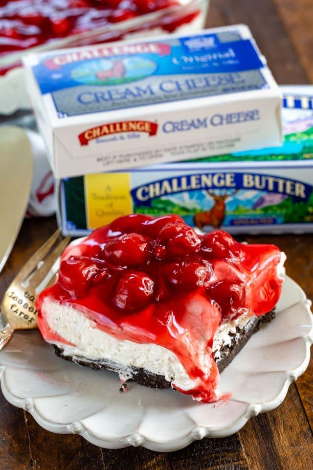 No Bake Cherry Cheesecake Dessert