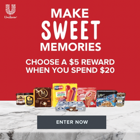 Make sweet memories picture for a giveaway entry form