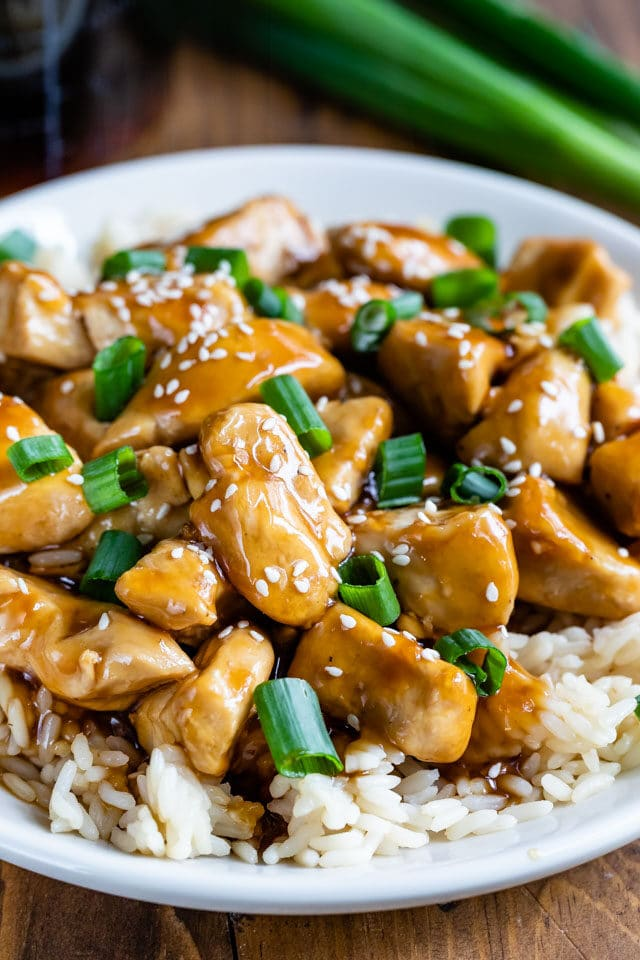 teriyaki chicken over rice