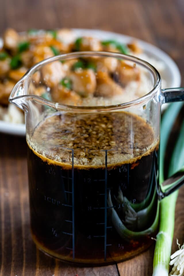 Homemade teriyaki sauce for marinade or stir fry.