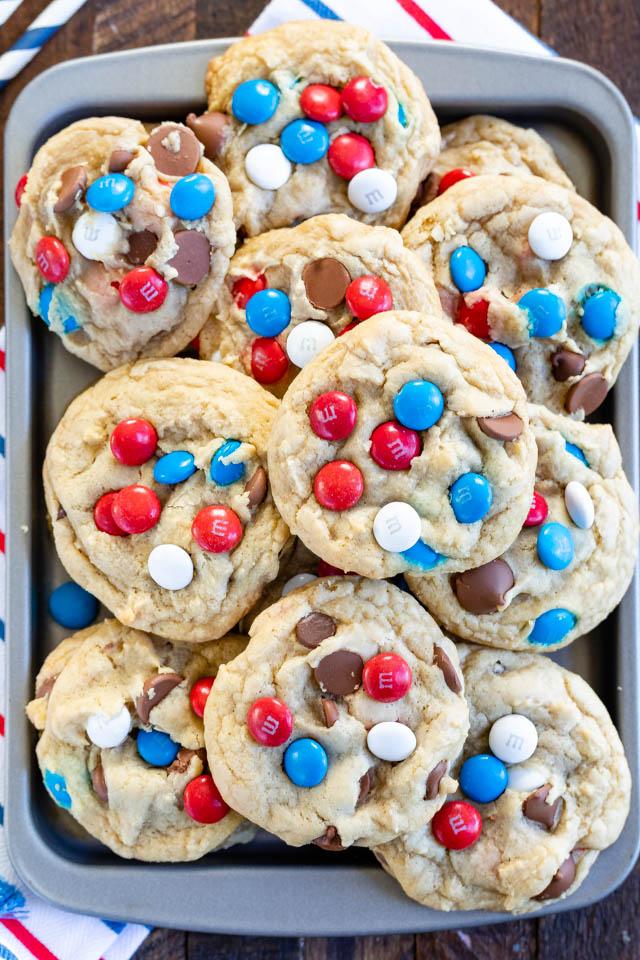 overhead shot of cookies on platter