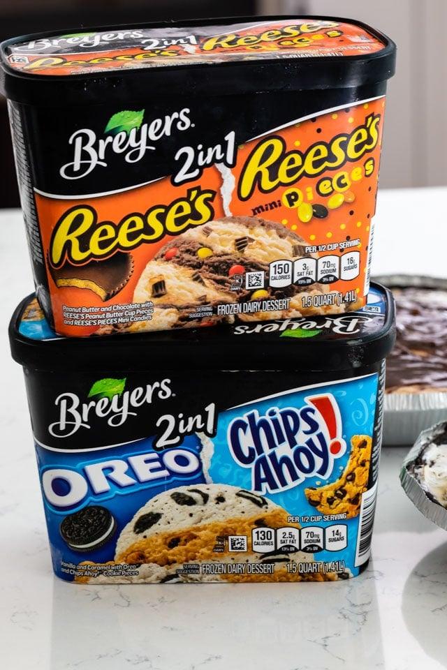 Breyers ice cream cartons