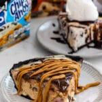 slice of ice cream pie on plate