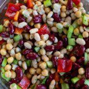 bean salad in bowl