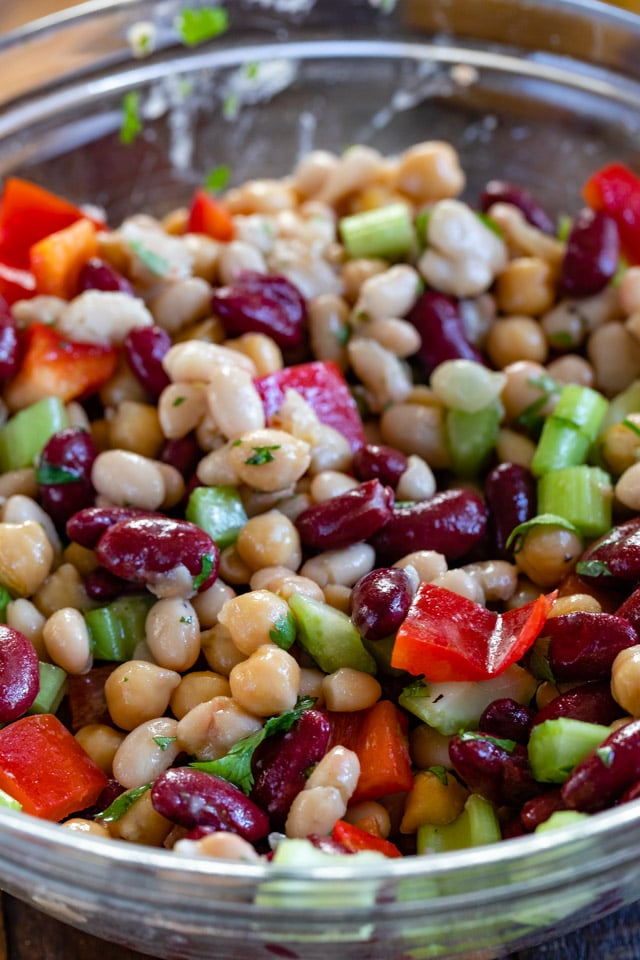 bean salad in bowl