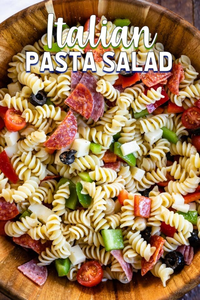 Easy Italian Pasta Salad Recipe Crazy For Crust