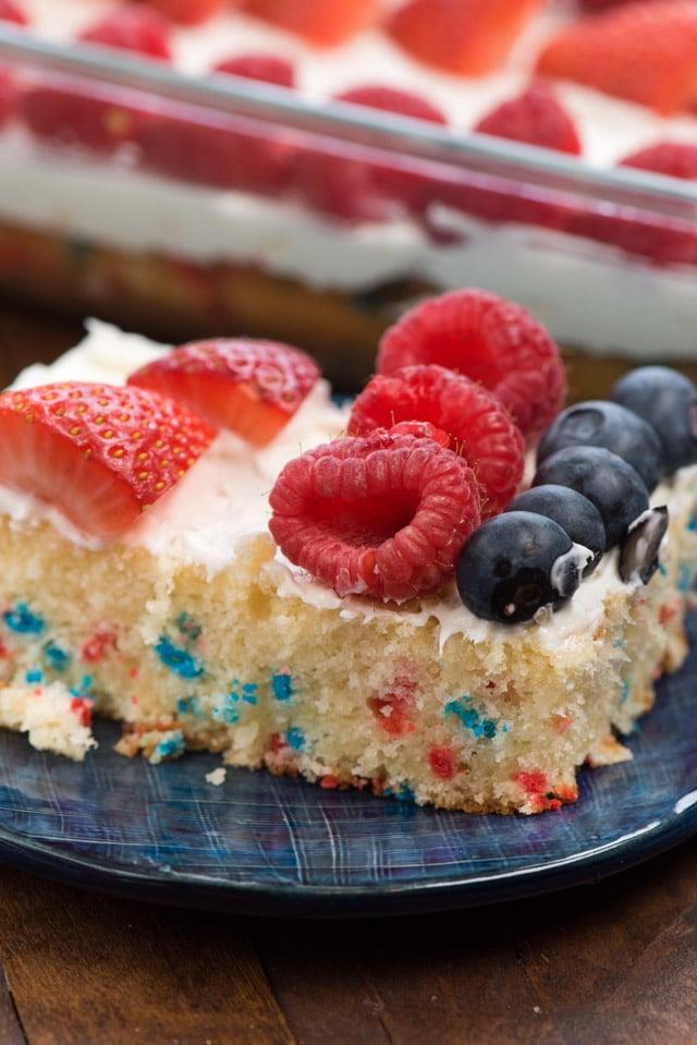 flag cake slice